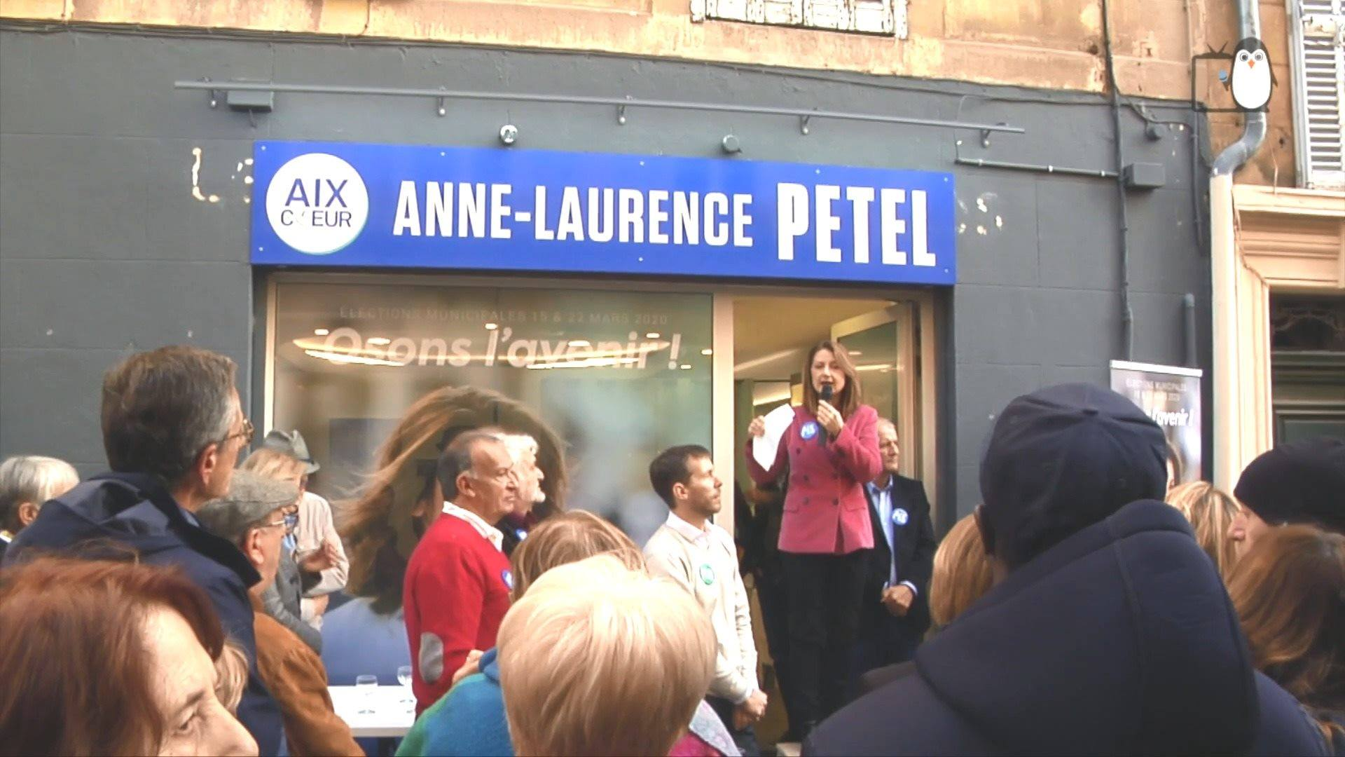 Inauguration du QG d'Anne Laurence Petel